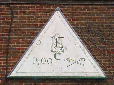 The Limpsfield Club 1900 sign