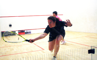 Playing squash & racketball at The Limpsfield Club