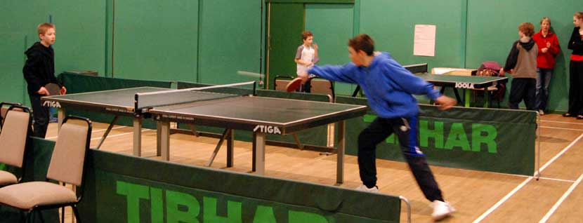 Playing Table tennis at The Limpsfield Club