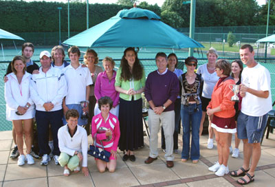 tennis tournament award at The Limpsfield Club