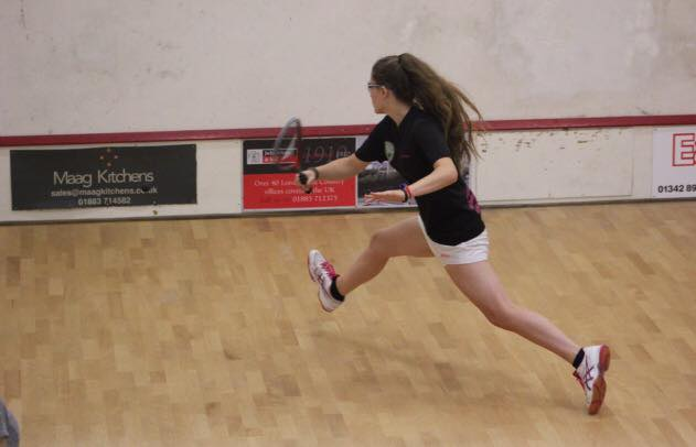 Playing squash/racketball at The Limpsfield Club